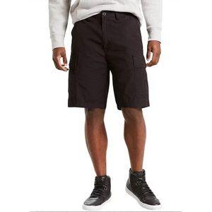 Levi's NWT Sz 28 Black Carrier Cargo Cotton Shorts